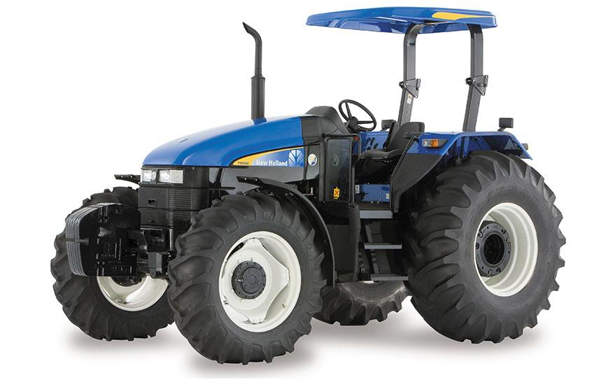 New Holland TL 75E Wheel Tractor. ROPS and Cab and AC